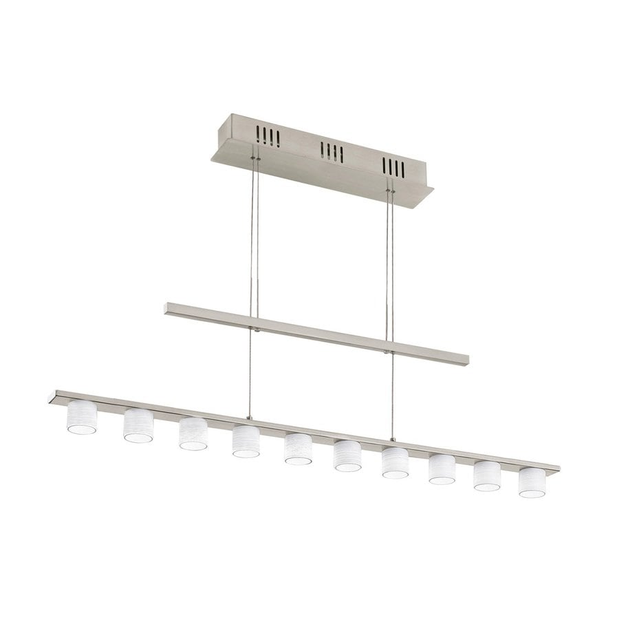 EGLO Pulsano 4.875-in W Matte Nickel LED Kitchen Island Light with Textured Shade