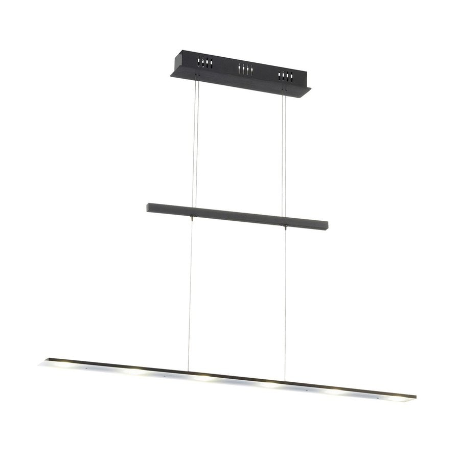 EGLO Agosta 4.875-in W Black LED Kitchen Island Light with Clear Shade