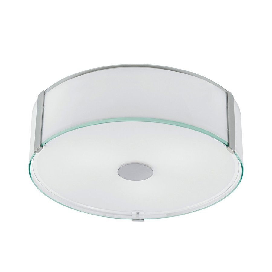 EGLO Varano 16.125-in W Chrome Flush Mount Light
