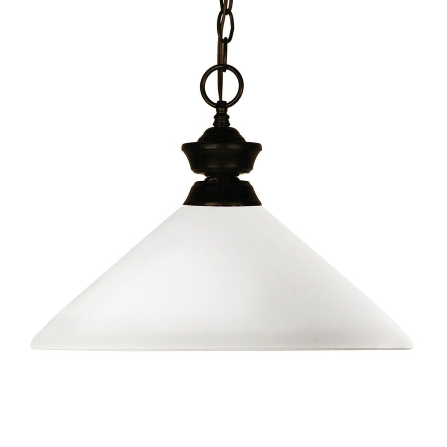 Z-Lite Chance 14-in Bronze Single Cone Pendant