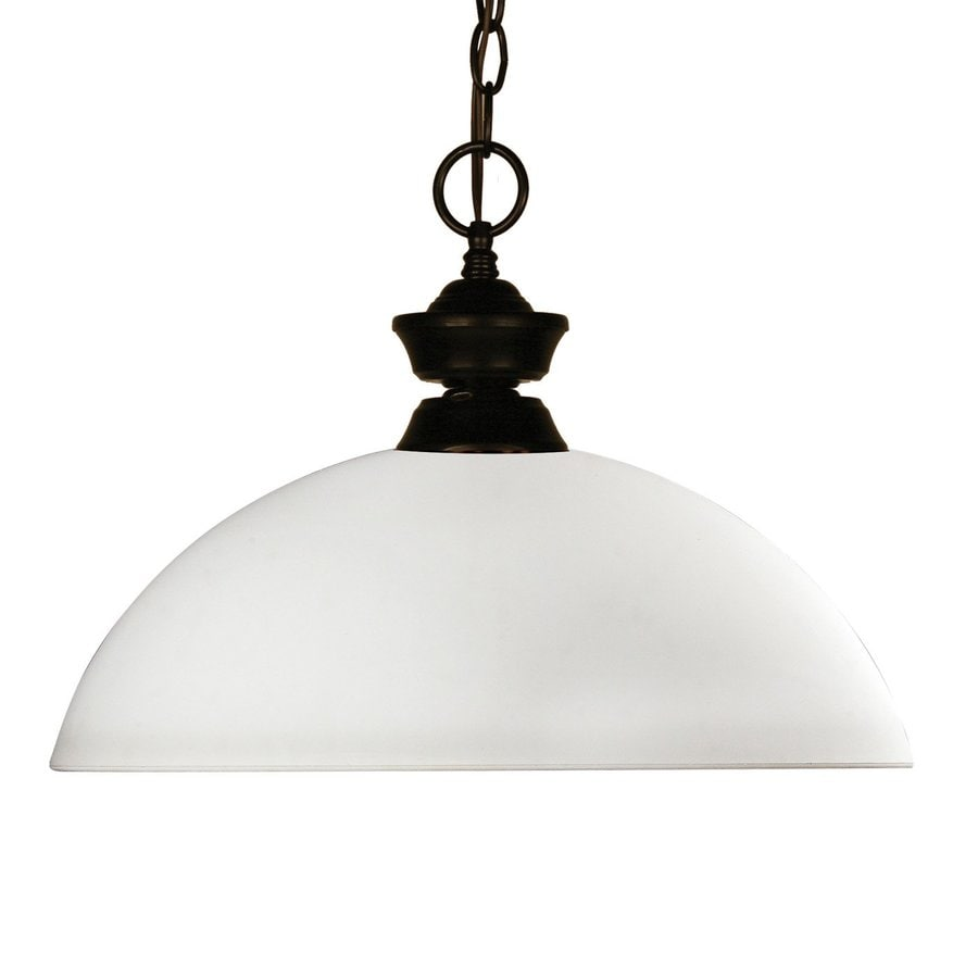 Z-Lite Chance 14-in Bronze Single Dome Pendant