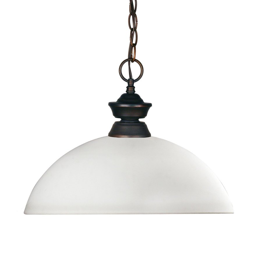 Z-Lite Riviera 14-in Olde Bronze Single Dome Pendant