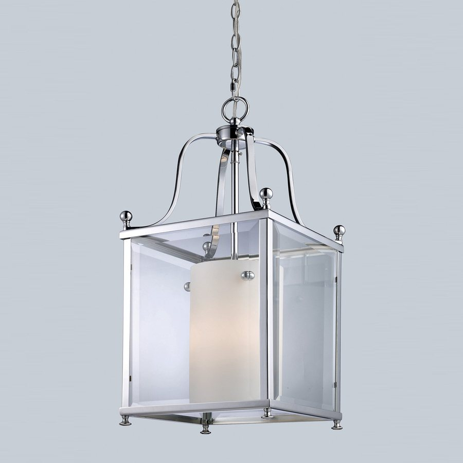Z-Lite Fairview 11-in Chrome Country Cottage Single Lantern Pendant