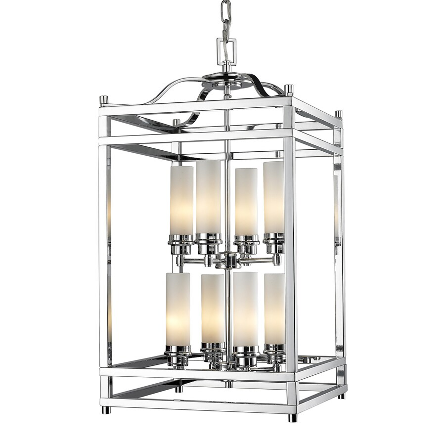 Z-Lite Altadore 15-in Chrome Multi-Light Cage Pendant