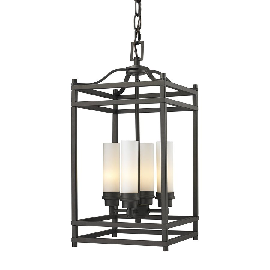 Z-Lite Altadore 10.625-in Bronze Multi-Light Cage Pendant
