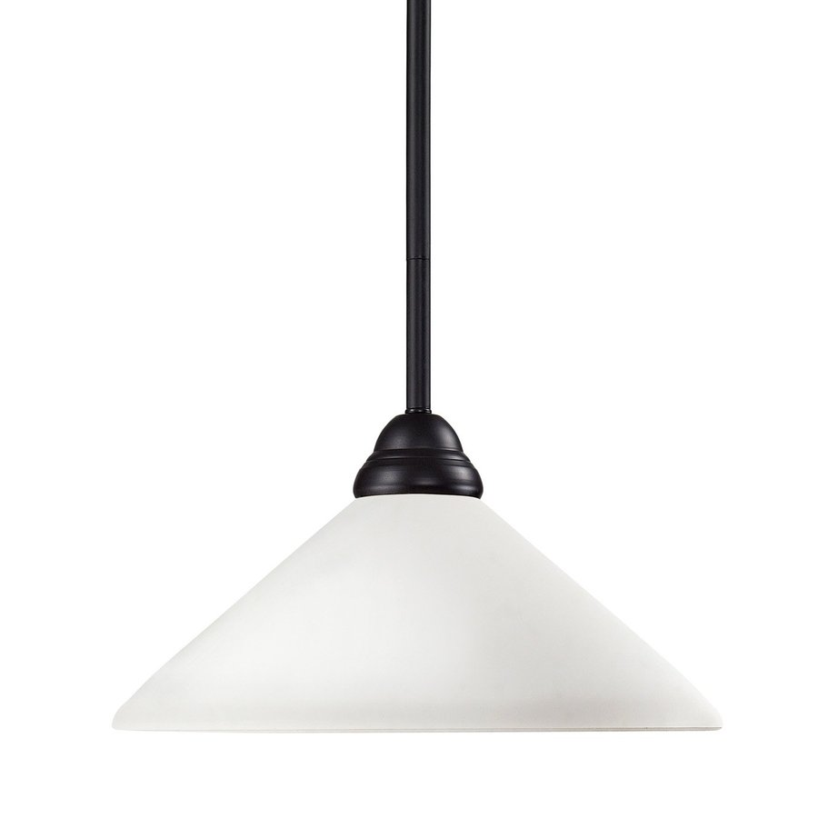 Z-Lite Riviera 14-in Bronze Single Cone Pendant