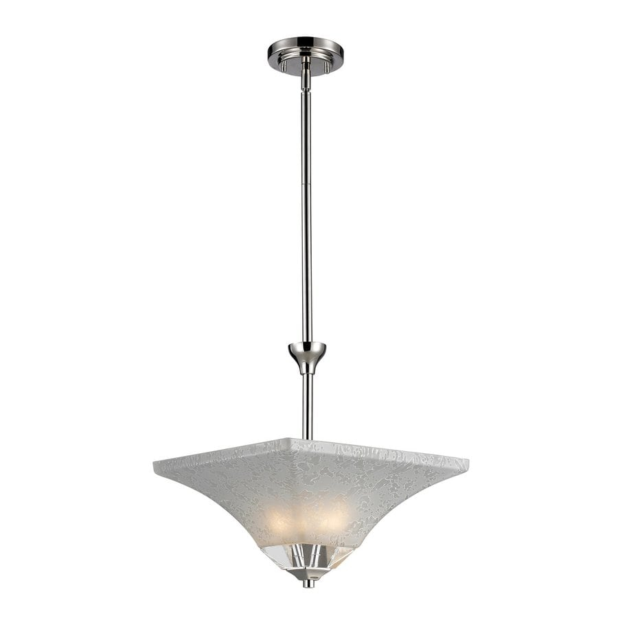 Z-Lite Pershing 13.25-in Polished Nickel Industrial Mini Bowl Pendant