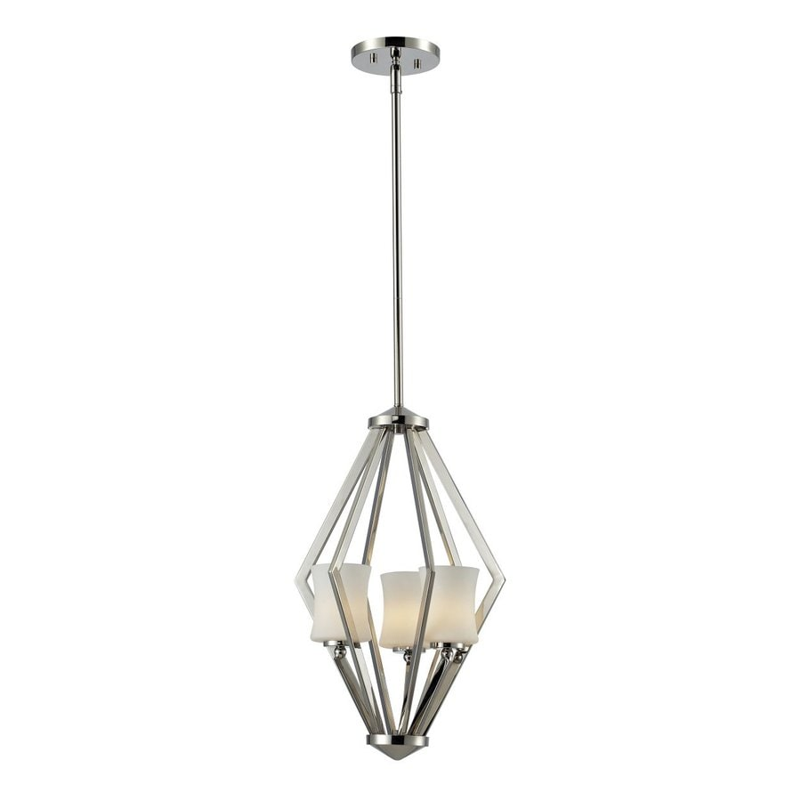 Z-Lite Elite 12-in Chrome Industrial Multi-Light Geometric Pendant