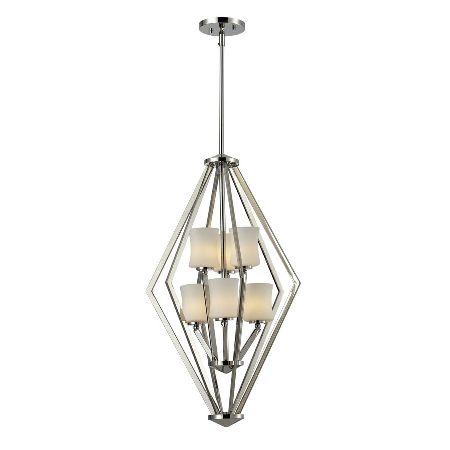 Z-Lite Elite 17-in Chrome Industrial Multi-Light Geometric Pendant