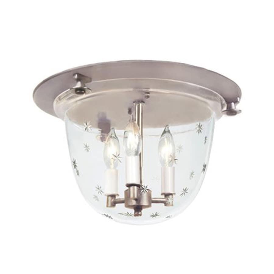 JVI Designs Mclean 14-in W Pewter Ceiling Flush Mount Light