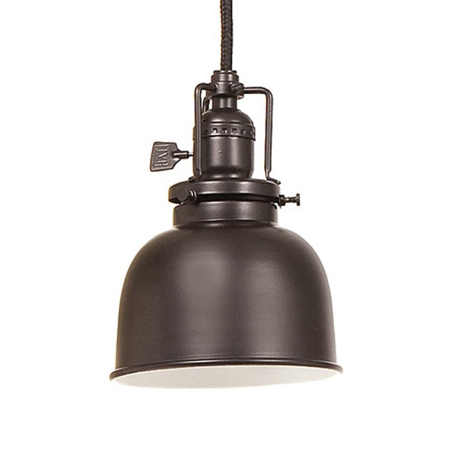 JVI Designs Union Square 5-in Oil-Rubbed Bronze Barn Mini Warehouse Pendant