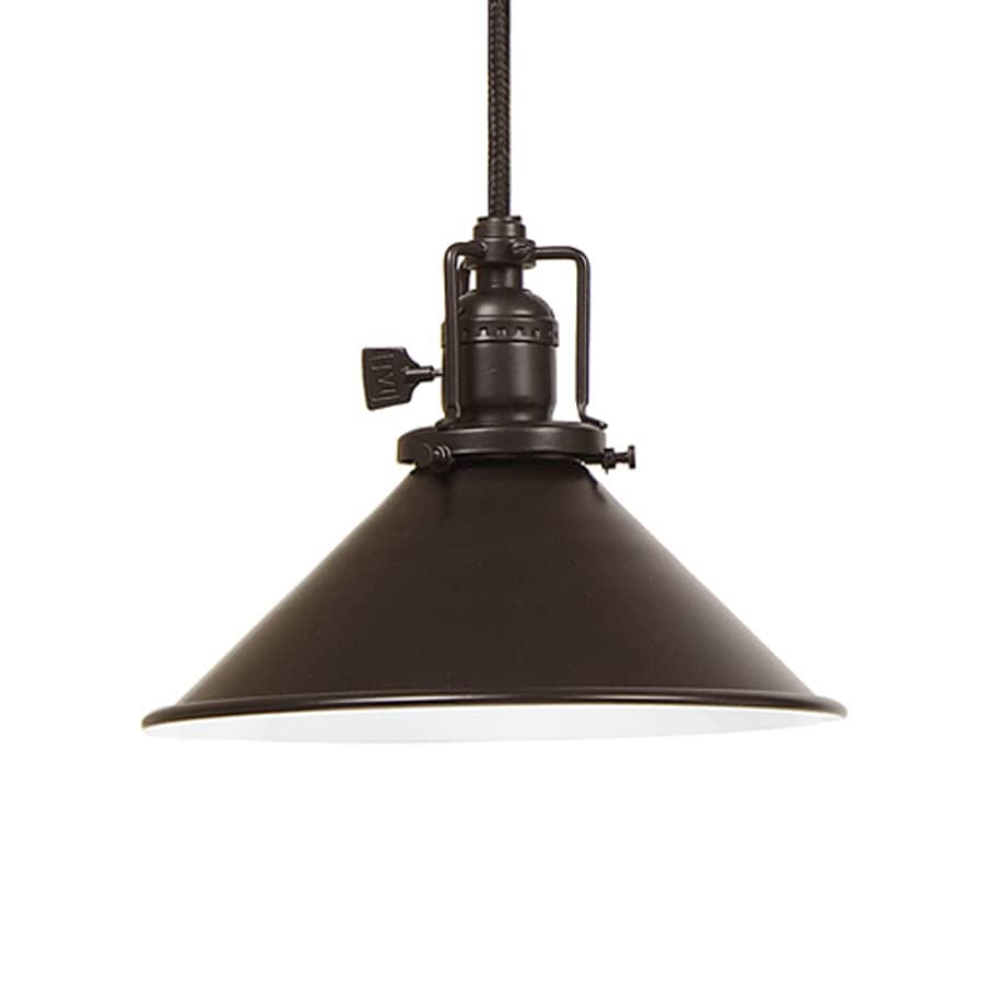 JVI Designs Union Square 8-in Oil-Rubbed Bronze Barn Mini Warehouse Pendant
