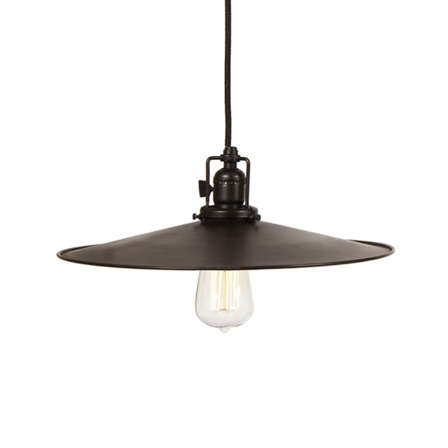 JVI Designs Union Square 14-in Oil-Rubbed Bronze Barn Single Warehouse Pendant