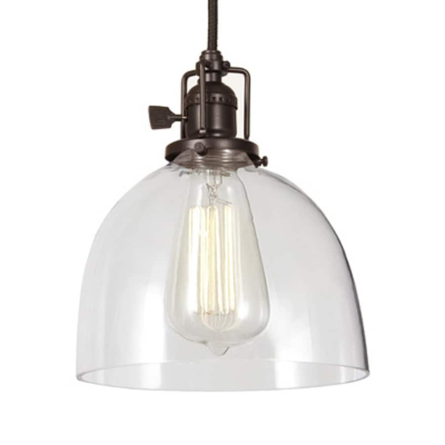 JVI Designs Union Square 7-in Oil-Rubbed Bronze Industrial Mini Clear Glass Dome Pendant