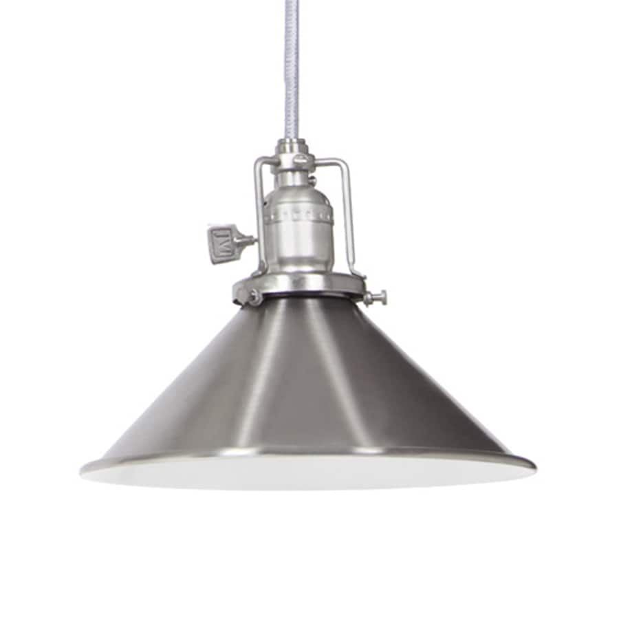 JVI Designs Union Square 8-in Pewter Industrial Mini Warehouse Pendant