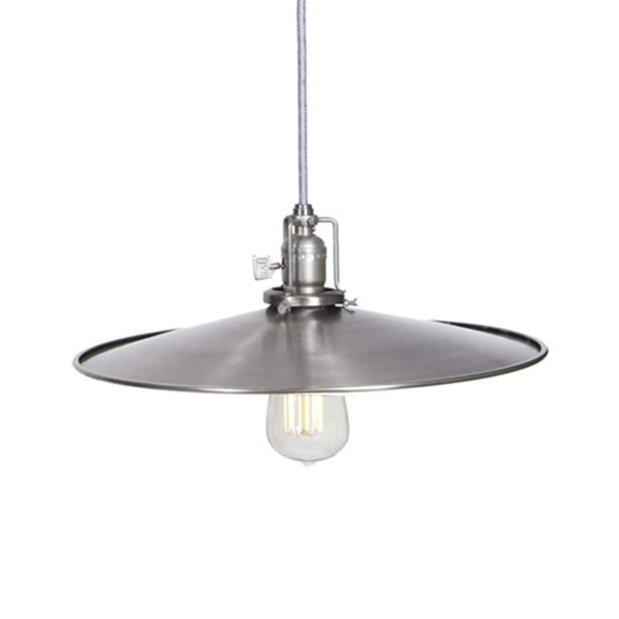 JVI Designs Union Square 14-in Pewter Industrial Single Warehouse Pendant