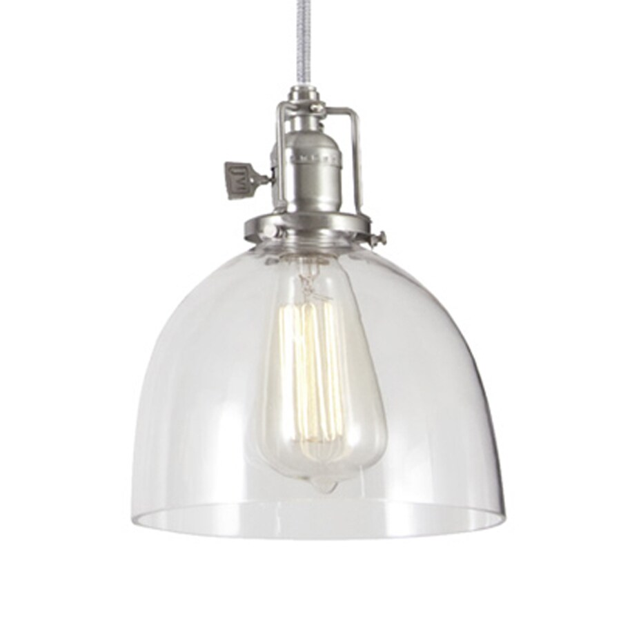 union square 7 in pewter industrial mini clear glass dome pendant. Black Bedroom Furniture Sets. Home Design Ideas