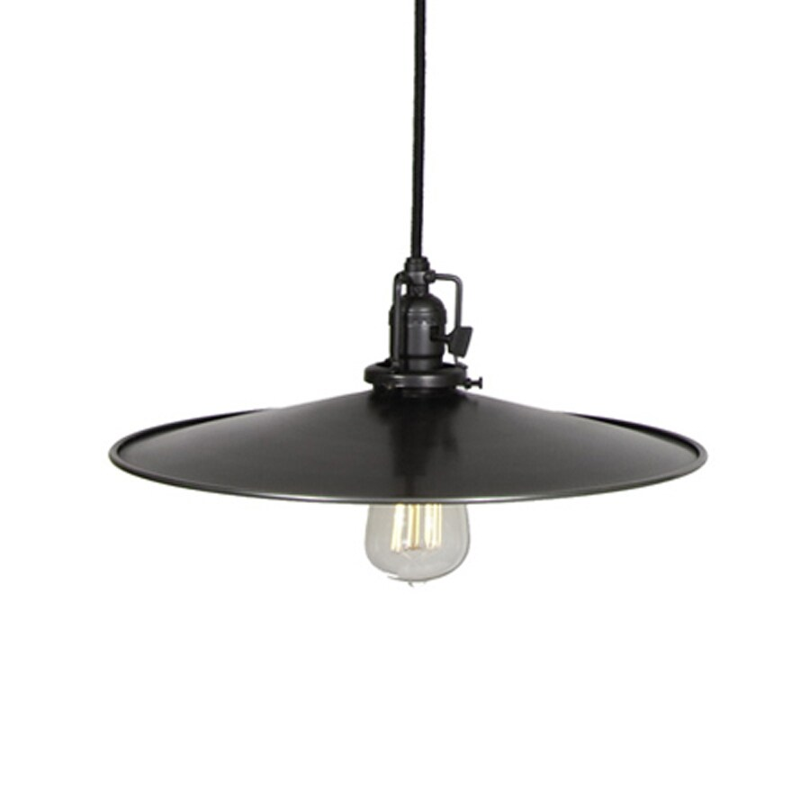 JVI Designs Union Square 14-in Gun Metal Barn Single Warehouse Pendant