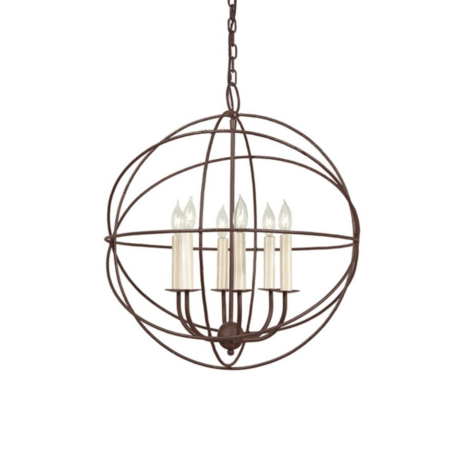 JVI Designs 6-Light Rust Transitional Globe Chandelier