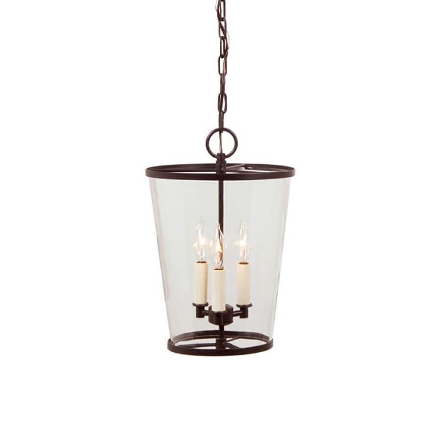 JVI Designs Charleston 10.25-in Oil-Rubbed Bronze Single Clear Glass Cylinder Pendant
