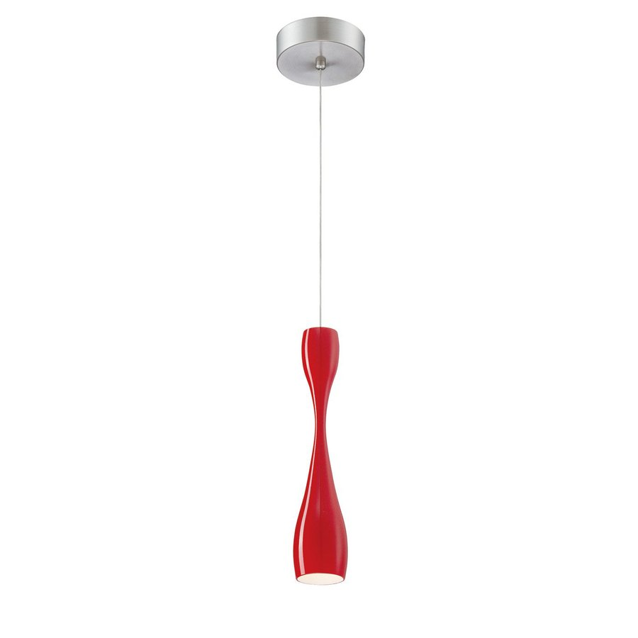 Shop philips sophia 22 in w red integrated led mini pendant light philips sophia 22 in w red integrated led mini pendant light with tinted shade aloadofball Image collections