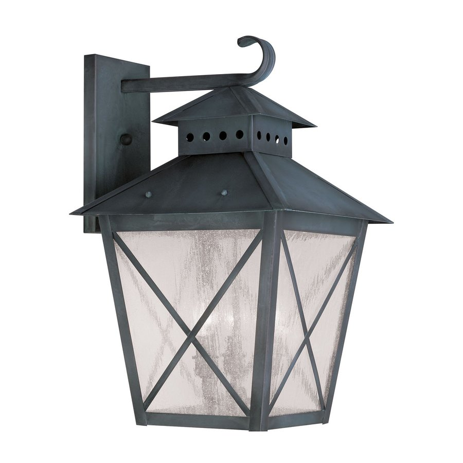 Livex Lighting Montgomery 21-in H Charcoal Outdoor Wall Light