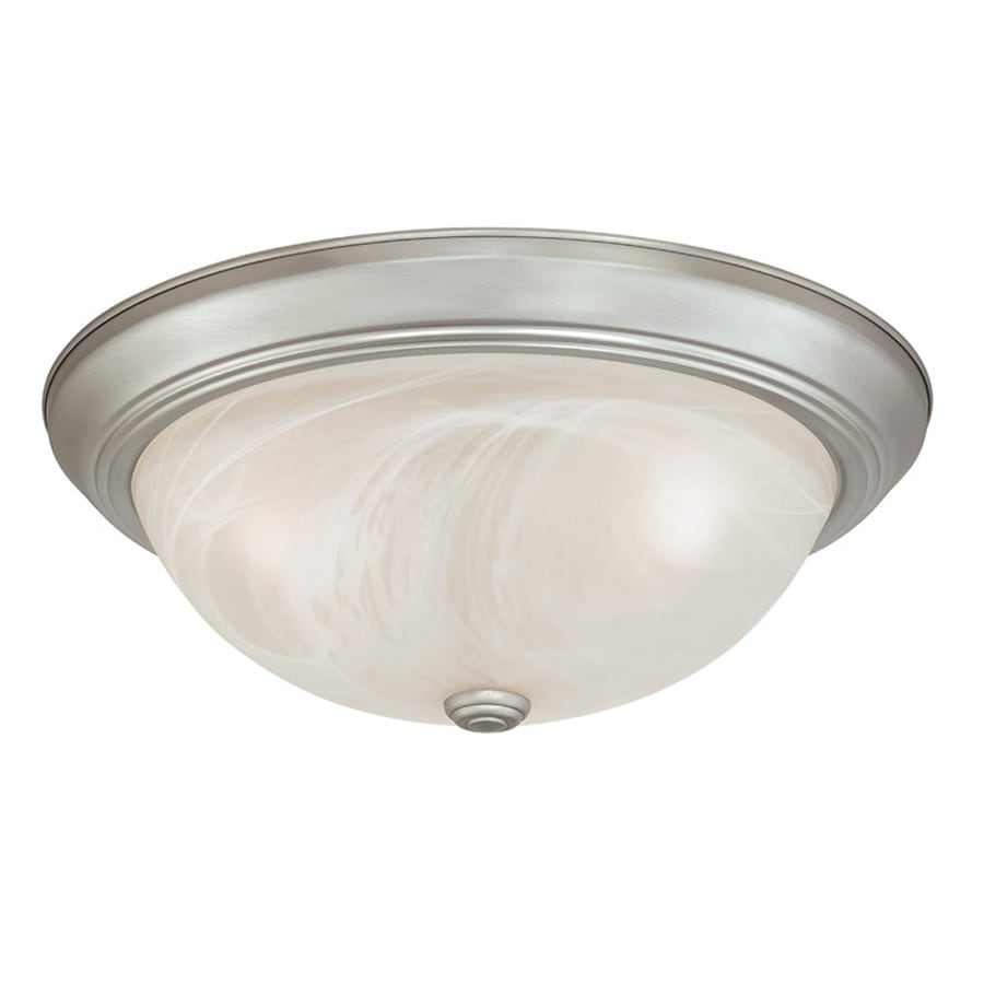 Cascadia 2-Pack Builder Twin Packs 15-in W Brushed Nickel Ceiling Flush Mount Light