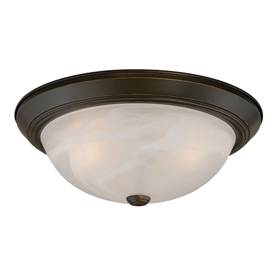 Cascadia 2-Pack Builder Twin Packs 15-in W Oil-Rubbed Bronze Ceiling Flush Mount Light