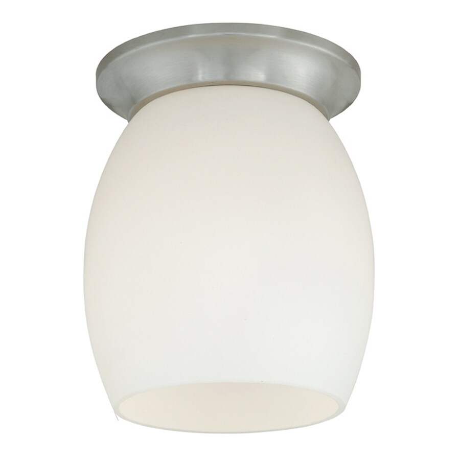 Cascadia Ceiling Light 4.75-in W Satin Nickel Ceiling Flush Mount Light