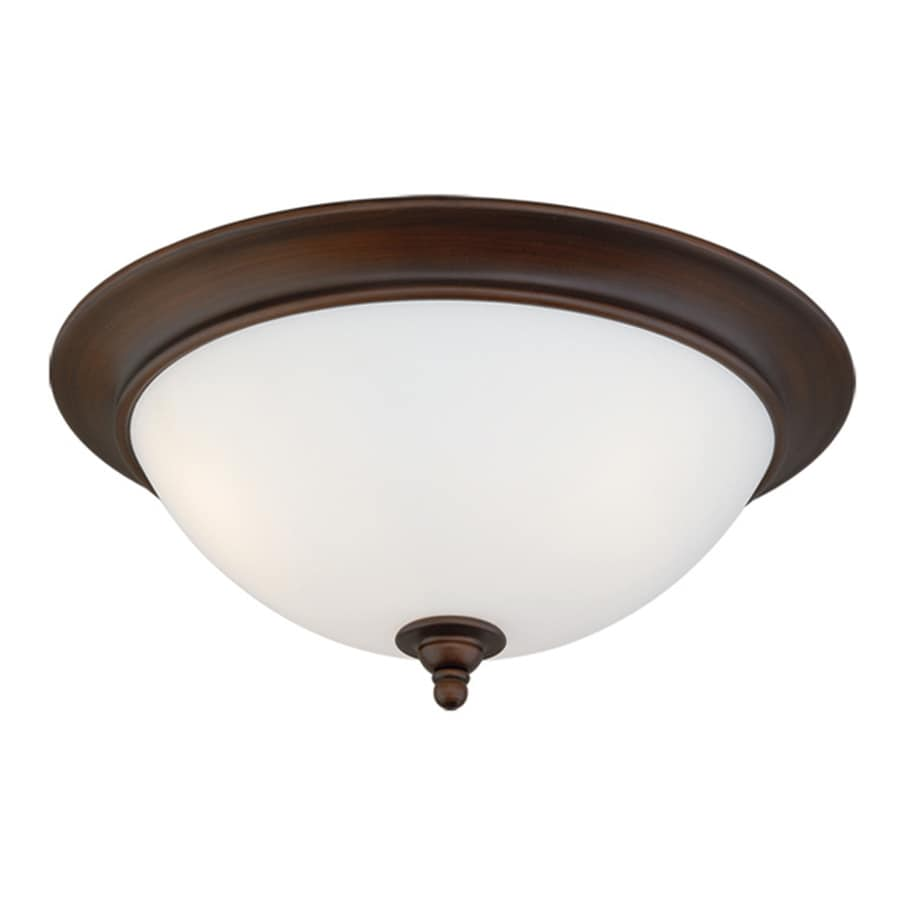 Cascadia Lorimer 13-in W Venetian bronze Flush Mount Light