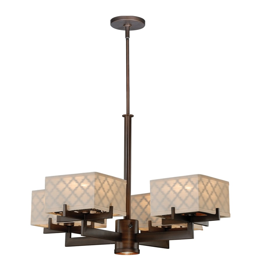 Cascadia Arabesque 28.375-in 5-Light Venetian Bronze Shaded Chandelier