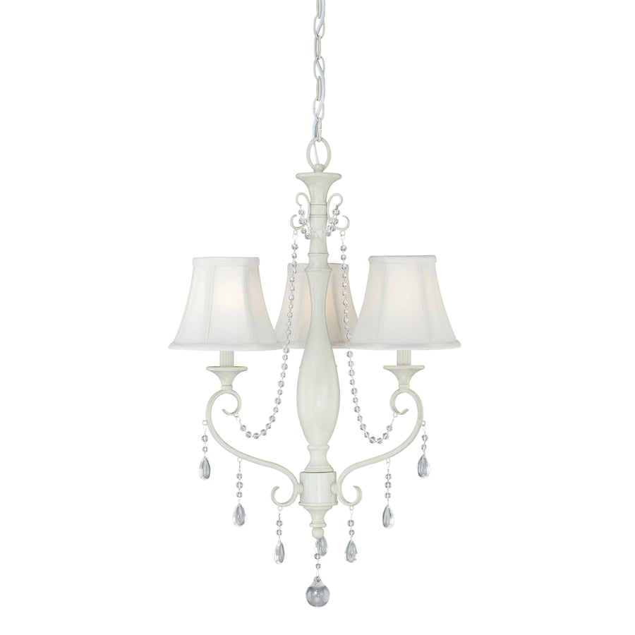 Cascadia Bristol 19.5-in 3-Light Antique ivory Country Cottage Shaded Chandelier