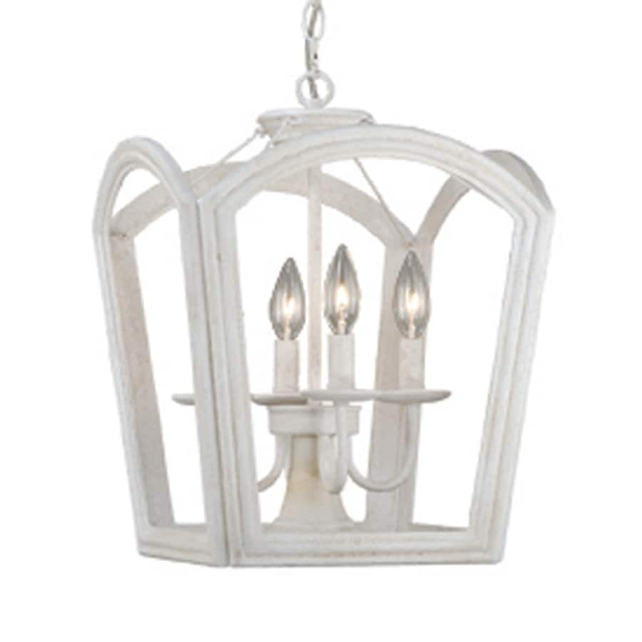 cascadia canterbury 135 in antique white country cottage single cage pendant antique white pendant lighting