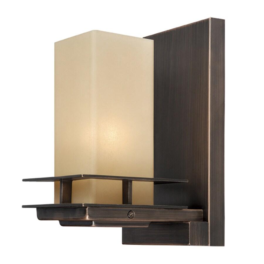 Cascadia Oak Park 5-in W 1-Light Sienna Bronze Directional Hardwired Wall Sconce