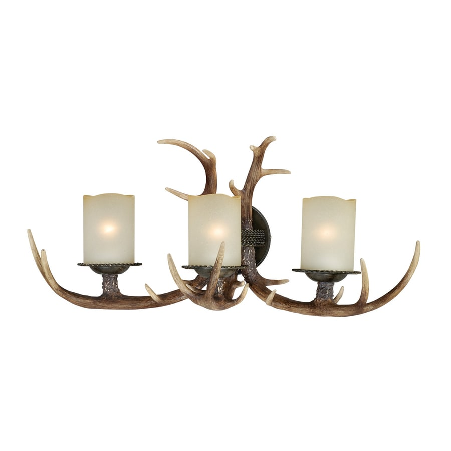 Cascadia Yoho 27.75-in W 3-Light Black Walnut Arm Wall Sconce