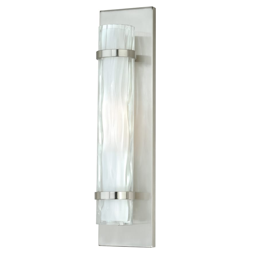 Cascadia Vilo 4.5-in W 1-Light Satin Nickel Pocket Wall Sconce