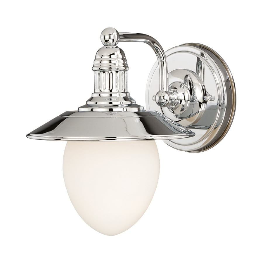 Cascadia Marina Bay 1-Light 10.5-in Polished Nickel Warehouse Vanity Light
