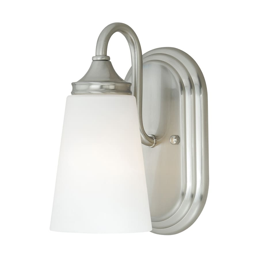 Vanity Lights Satin Nickel : Shop Cascadia Lorimer 1-Light 8.75-in Satin nickel Cone Vanity Light at Lowes.com