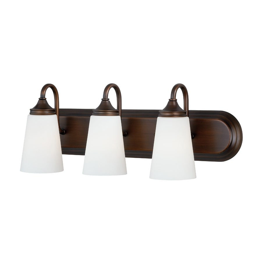 Shop Cascadia Lorimer 3-Light 8.5-in Venetian Bronze Cone Vanity Light at Lowes.com