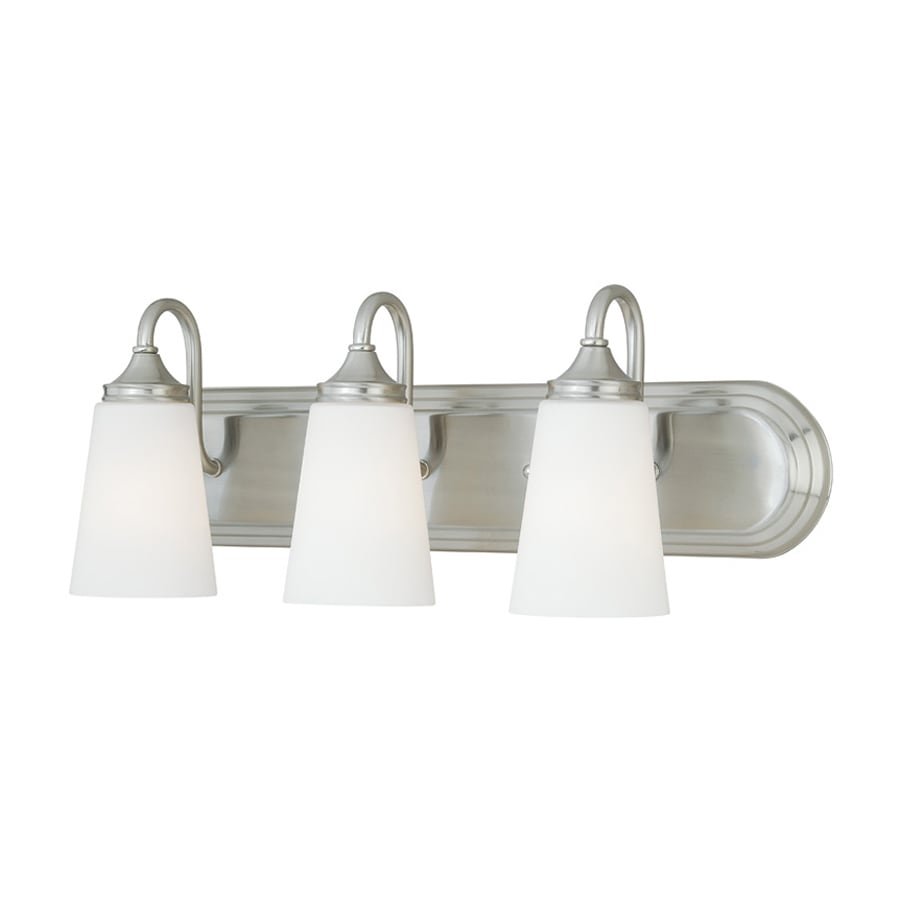 Cascadia Lorimer 3-Light 8.5-in Satin Nickel Cone Vanity Light