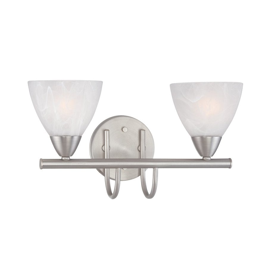 Thomas Lighting Tia 2-Light 8.5-in Matte nickel Bell Vanity Light