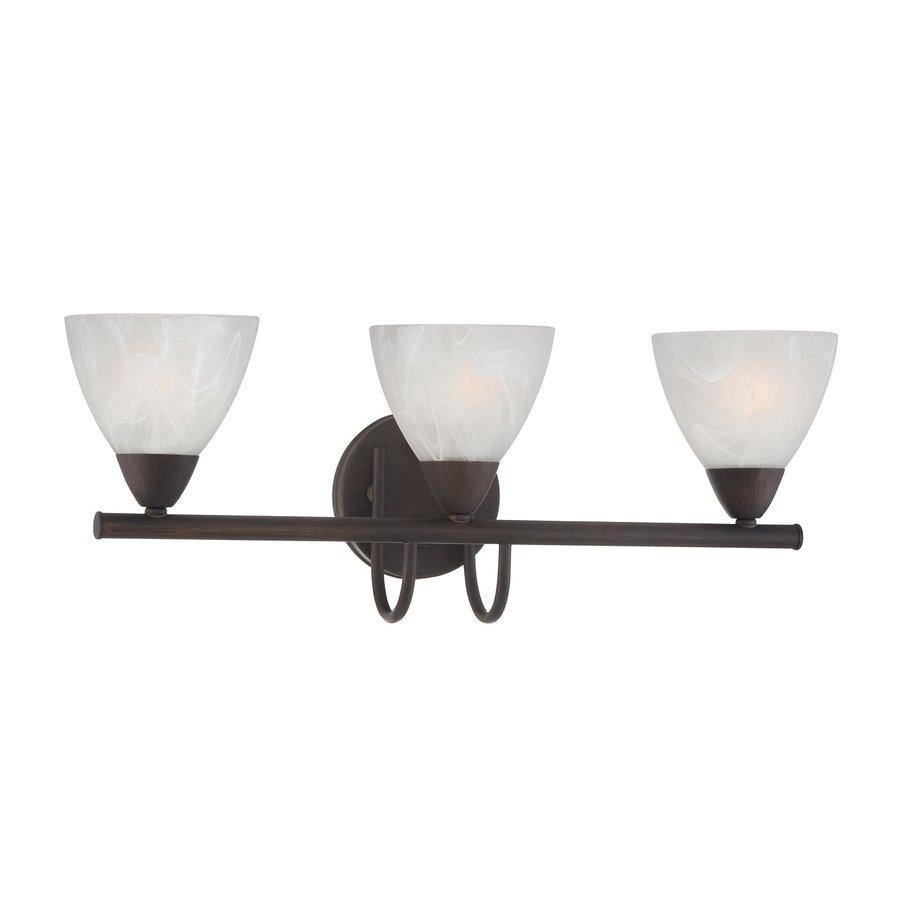 Thomas Lighting Tia 3-Light 8.5-in Painted Bronze Bell Vanity Light