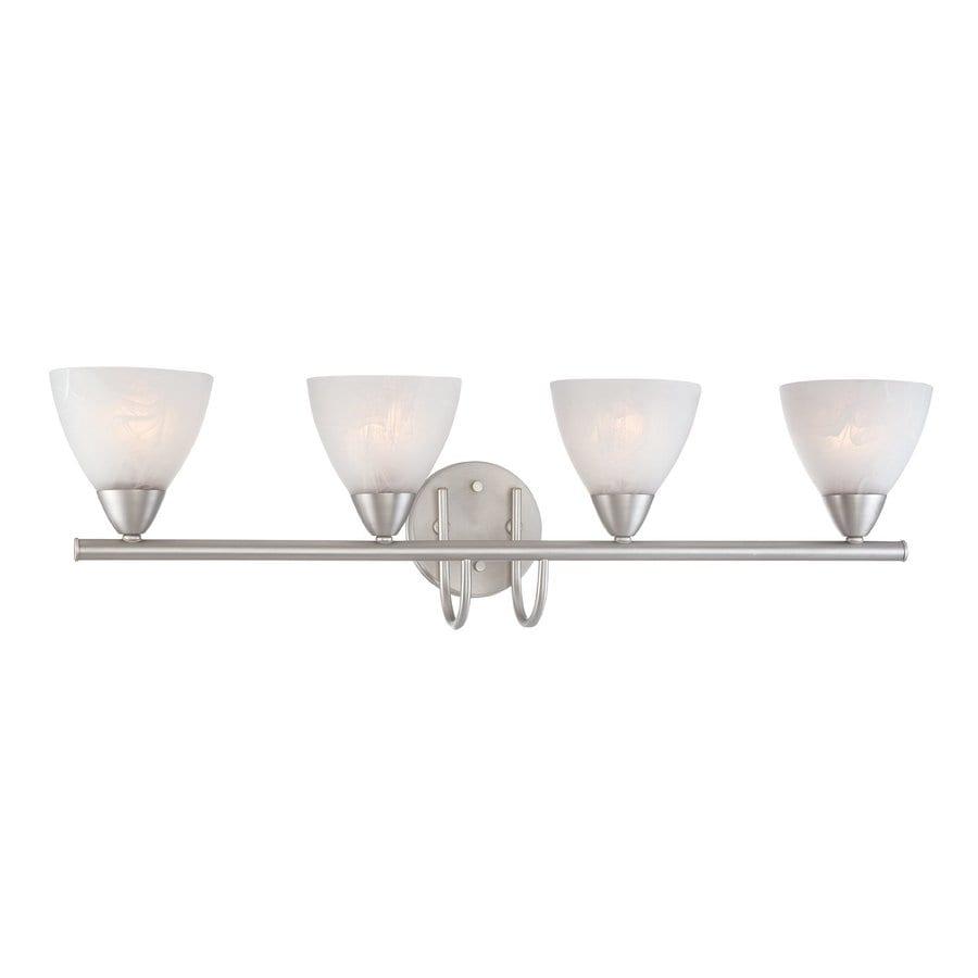 Thomas Lighting Tia 4-Light 8.5-in Matte nickel Bell Vanity Light