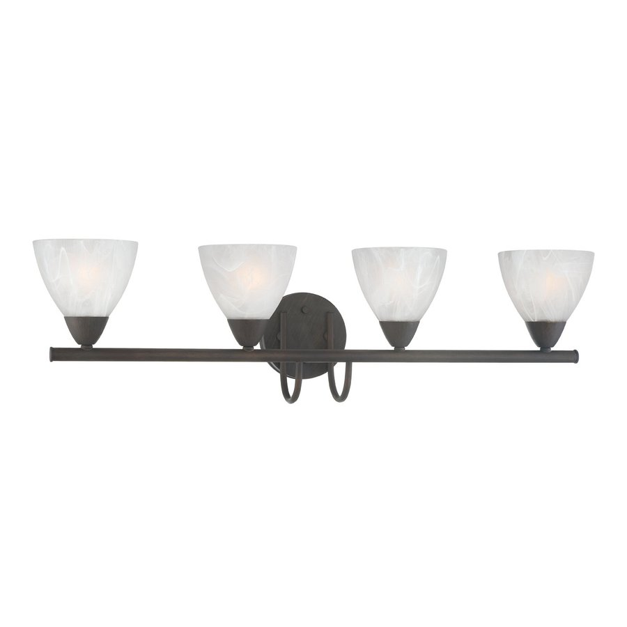 Thomas Lighting Tia 4-Light 8.5-in Painted Bronze Bell Vanity Light