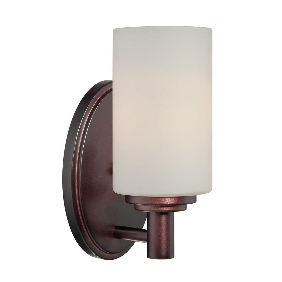 Thomas Lighting Pittman 1-Light 9-in Sienna Bronze Cylinder Vanity Light