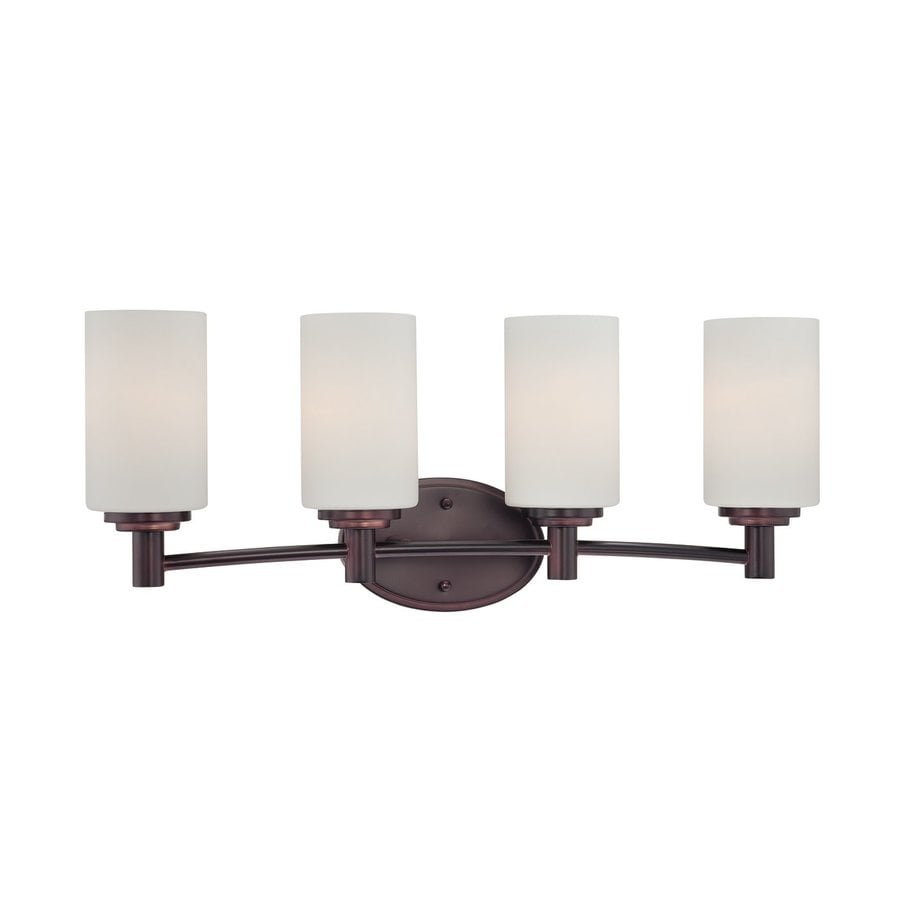 Thomas Lighting Pittman 4-Light 9.75-in Sienna bronze Cylinder Vanity Light