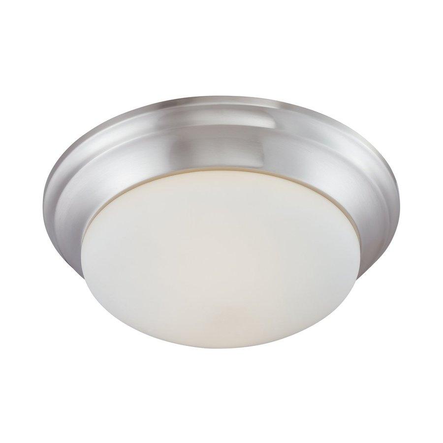 Thomas Lighting 14.25-in W Brushed nickel Flush Mount Light