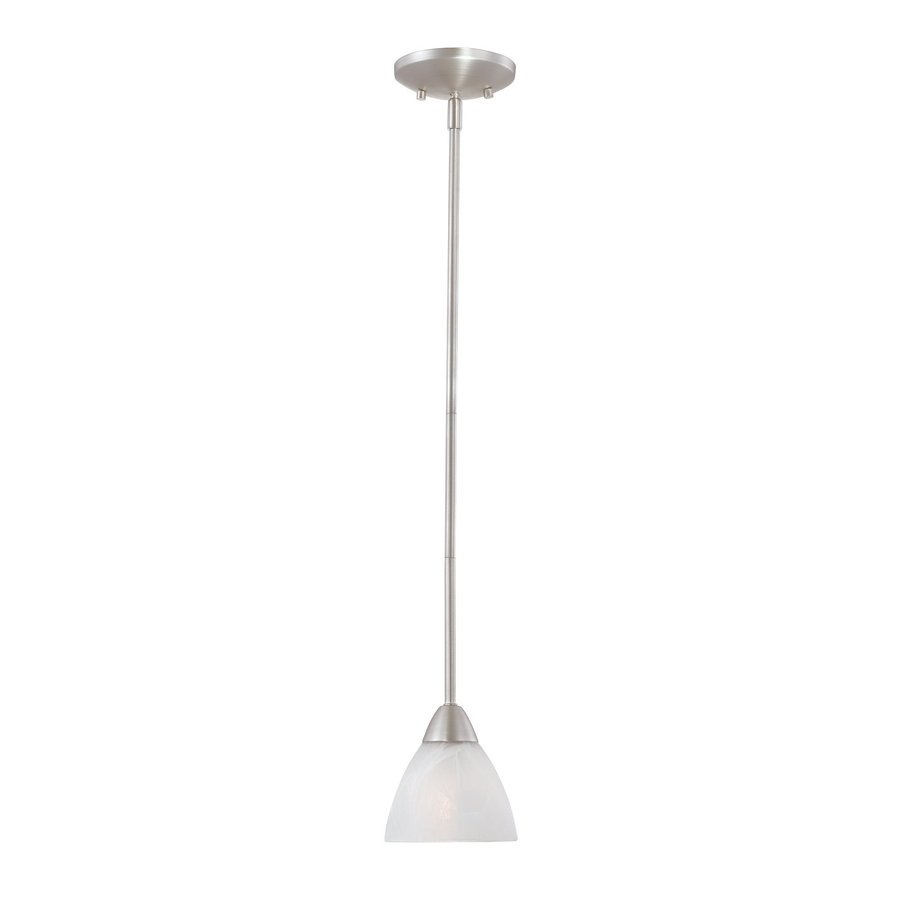 Thomas Lighting Tia 5.25-in Matte Nickel Mini Bell Pendant