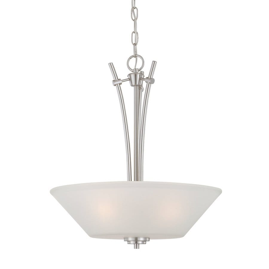 Thomas Lighting Pittman 18-in Brushed Nickel Single Bowl Pendant
