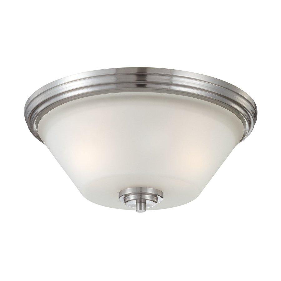 Thomas Lighting Pittman 14-in W Brushed nickel Flush Mount Light